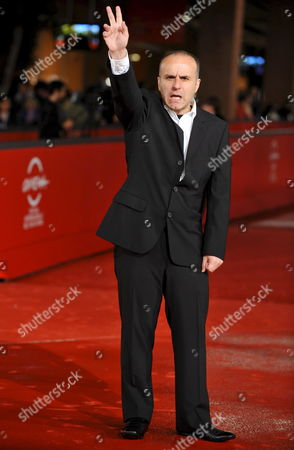 Stock Image of Film Director Ilan Duran Cohen Poses For Photographers on the Red Carpet Prior to the Sreening of His Film 'Le Plaisir De Chanter' at the 3rd Rome Film Festival 28 October 2008 in Rome Italy the Festival Runs Until 31 October 2008 Italy Rome