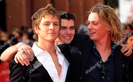 Canadian Actor Cameron Bright (c) Poses on the Red Carpet with British Actors Charlie Bewley (l) and Jamie Campbell Bower (r) As They Arrive at the Screening of the Film 'The Twilight Saga: New Moon' by Us Movie Director Chris Weitz Presented out of Competition at the 4th Rome International Film Festival Italy on 22 October 2009 Italy Rome