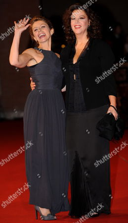 Stock Photo of Italian Actress and Movie Director Stefania Sandrelli Poses on the Red Carpet with Her Daughter Actress Amanda Sandrelli As They Arrive at the Screening of Her Film 'Christine' Presented out of Competition at the 4th Rome International Film Festival Italy on 19 October 2009 the Festival Runs to 23 October Italy Rome