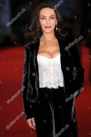 Italian Actress Maria Rosaria Omaggio Poses on the Red Carpet Prior to the Awards Ceremony of the Fourth Rome International Film Festival 23 October 2009 in Rome Italy the Festival Runs Until 23 October Italy Rome