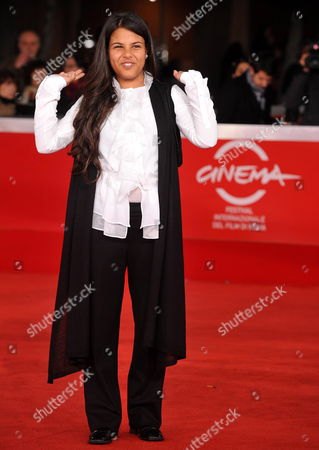 Tunisinian Actress Nadia Khlifi Poses Upon Her Arrival to the Premiere of 'Io Sono Con Te' at the 5th Annual Rome Film Festival in Rome Italy 03 November 2010 the Movie by Italian Director Guido Chiesa is Presented in the Official Competition at the Festival That Runs From 28 October to 05 November Italy Rome