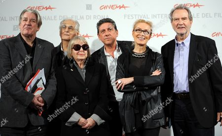 Italian Actor and Director Sergio Castellitto (3-r) President of the International Jury Poses with Jury Members (l-r) British Author Patrick Mcgrath Belgian Theater Director and a Filmmaker Ulu Grosbard Italian Journalist Natalia Aspesi Russian Curator Olga Sviblova and German Filmmaker and Author Edgar Reitz During the Jury Photocall at the 5th Annual Rome Film Festival in Rome Italy 28 October 2010 the Festival Runs From 28 October to 05 November Italy Rome