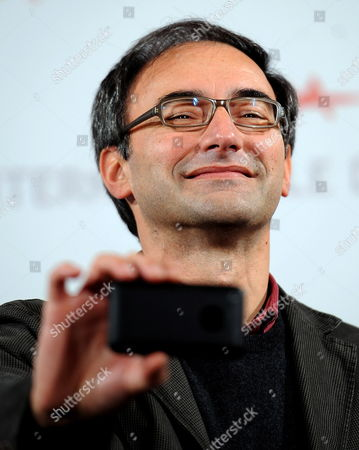 Stock Photo of Italian Director Valerio Jalongo Poses During the Photocall For His Movie 'La Scuola E' Finita' at the 5th Annual Rome Film Festival in Rome Italy 29 October 2010 the Movie is Presented in the Official Competition of the Festival That Runs From 28 October to 05 November Italy Rome