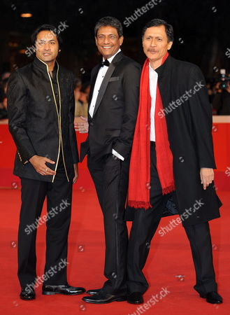 Indian Actors Cast Members (l-r) Samrat Chakrabarti Adil Hussain and Di Bang Pose During the Premiere For the Movie 'Gangor' at the 5th Annual Rome Film Festival in Rome Italy 31 October 2010 the Movie by Italian Director Italo Spinelli is Presented in Official Competition the Festival That Runs From 28 October to 05 November Italy Rome