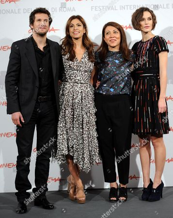 Iranian-born Us Director and Writer Massy Tadjedin (2-r) Poses with French Actor Guillaume Canet (l) British Actress Keira Knightley (r) and Us Actress Eva Mendes (2-l) During the Photocall For Their Movie 'Last Night' at the 5th Annual Rome Film Festival in Rome Italy 28 October 2010 the Movie is Presented in the Official Competition of the Festival That Runs From 28 October to 05 November Italy Rome