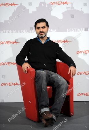 Stock Picture of Iranian-american Director Hossein Keshavarz Poses During the Photocall For His Movie 'Dog Sweat' at the 5th Annual Rome Film Festival in Rome Italy 29 October 2010 the Movie is Presented in the Official Competition of the Festival That Runs From 28 October to 05 November Italy Rome