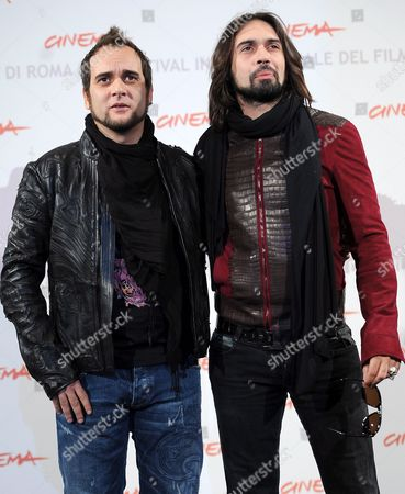 Cast Members Italian Musicians Alessandro Deidda (l) and Fancesco Sarcina (r) of the Band Vibrazioni Pose During the Photocall For the Movie 'La Scuola E' Finita' at the 5th Annual Rome Film Festival in Rome Italy 29 October 2010 the Movie by Italian Director Valerio Jalongo is Presented in the Official Competition of the Festival That Runs From 28 October to 05 November Italy Rome