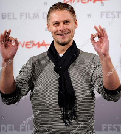 Estonian Actor Tambet Tuisk Poses During the Photocall For the Movie 'The Poll Diaries ' at the 5th Annual Rome Film Festival in Rome Italy 31 October 2010 the Movie by German Director Chris Kraus is Presented in Official Competition the Festival That Runs From 28 October to 05 November Italy Rome
