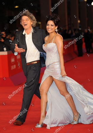Italian Director Italo Spinelli with Indian Actress Priyanka Bose Pose During the Premiere For the Movie 'Gangor ' at the 5th Annual Rome Film Festival in Rome Italy 31 October 2010 the Movie by Italian Director Italo Spinelli is Presented in Official Competition the Festival That Runs From 28 October to 05 November Italy Rome