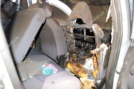 Stock Photo of An Interior View of a Car in Bari 26 June 2009 Belonging to a Woman Linked to Sex Scandal That Has Engulfed Italian Premier Silvio Berlusconi the Car was Set Alight Late 25 June 2009 in a Suspected Arson Attack According to News Reports the Torching Took Place in Modugno Near the Southern City of Bari Outside the Home of 23 Year Old Barbara Montereale Italy Bari