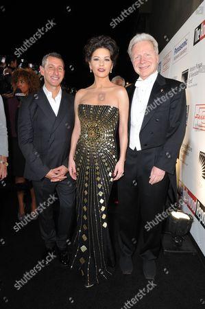 Director Adam Shankman, Catherine Zeta-Jones and John Mauceri