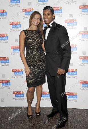 Luis Nani and girlfriend Daniela Martins