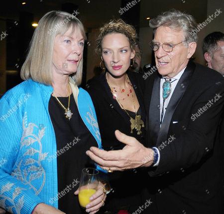 Nena Thurman, Uma Thurman and Bob Thurman