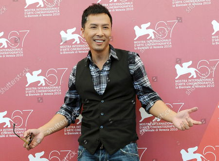 Chinese Actor Donnie Yen Poses During the Photocall For the Movie 'Legend of the First: the Return of Chen Zhen' at the 67th Annual Venice Film Festival in Venice Italy 01 September 2010 the Movie by Chinese Director Andrew Lau is Presented out of Competition at the Festival Running From 01 to 11 September Italy Venice