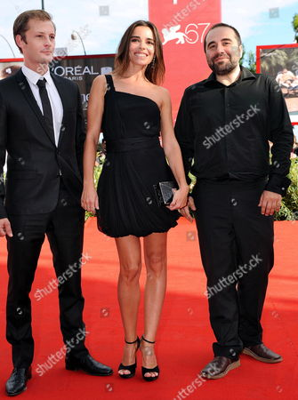 French Director Antony Cordier (r-l) and French Actors/cast Members Elodie Bouchez and Nicolas Duvauchelle Arrive For the Premiere of Their Movie 'Happy Few' at the 67th Annual Venice Film Festival in Venice Italy 03 September 2010 the Movie is Presented in the International Competition 'Venezia 67' at the Festival Running From 01 to 11 September Italy Venice