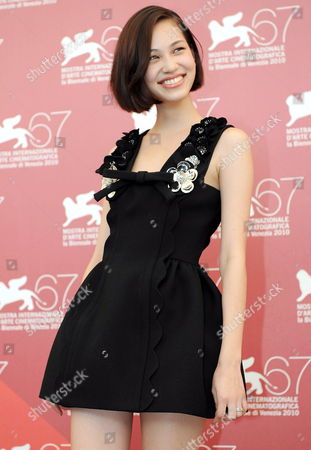 Stock Image of Japanese Actress Kiko Mizuhara Poses During the Photocall For the Movie 'Noruwei No Mori' (norwegian Wood) at the 67th Annual Venice Film Festival in Venice Italy 02 September 2010 the Movie by Vietnamese-french Director Anh Hung Tran is Presented in the International Competition 'Venezia 67' at the Festival Running From 01 to 11 September 2010 Italy Venice