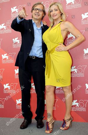 Italian Art Critic Vittorio Sgarbi (l) and Italian Porn Actress Vittoria Risi (r) Pose For Photographs During the 67th Annual Venice Film Festival in Venice Italy 02 September 2010 the Festival Runs From 01 to 11 September 2010 Italy Venice