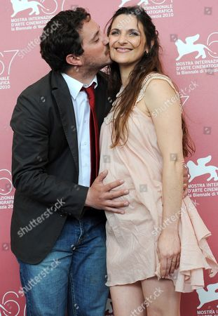 Chilean Director Pablo Larrain (l) Poses with His Wife Chilean Actress Antonia Zegers During the Photocall For Their Movie 'Post Mortem' at the 67th Annual Venice Film Festival in Venice Italy 05 September 2010 the Movie is Presented in the International Competition 'Venezia 67' at the Festival Running From 01 to 11 September Italy Venice