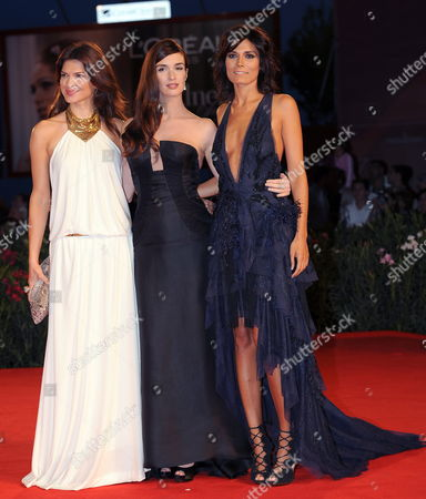 Stock Picture of (r-l) Actress Film Cast: Italian Valeria Solarino Spanish Paz Vega and Romanian Monica Barladeanu Pose on the Red Carpet During the Premiere For the Movie 'Vallanzasca - Gli Angeli Del Male' at the 67th Annual Venice Film Festival in Venice Italy 06 September 2010 the Movie by Italian Director Michele Placido is Presented out of Competition at the Festival Running From 01 to 11 September 2010 Italy Venice