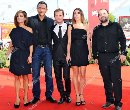 French Director Antony Cordier (r-l) French Actors/cast Members Elodie Bouchez Nicolas Duvauchelle Roschdy Zem and Marina Fois Arrive For the Premiere of Their Movie 'Happy Few' at the 67th Annual Venice Film Festival in Venice Italy 03 September 2010 the Movie is Presented in the International Competition 'Venezia 67' at the Festival Running From 01 to 11 September Italy Venice