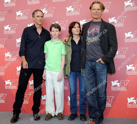 Canadian Actor Bruce Greenwood (r-l) Us Director Kelly Reichardt and Us Actors Tommy Nelson and Neal Huff Pose During the Photocall For Their Movie 'Meek's Cutoff' at the 67th Annual Venice Film Festival in Venice Italy 05 September 2010 the Movie is Presented in the International Competition 'Venezia 67' at the Festival Running From 01 to 11 September Italy Venice