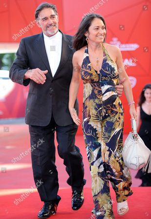 Italian Actor Fabio Testi Arrives with His Girlfriend Antonella For the Premiere of His Movie 'Road to Nowhere' at the 67th Annual Venice Film Festival in Venice Italy 10 September 2010 the Movie by Us Director Monte Hellman is Presented in the International Competition 'Venezia 67' at the Festival Running From 01 to 11 September Italy Venice