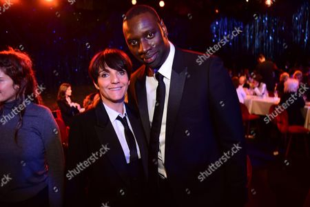 Florence Foresti and Omar Sy