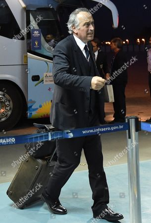 Italin Soccer Federation President Giancarlo Abete Arrives at Rio De Janeiro International Airport Brazil 25 June 2014 the Italian Soccer Team was Eliminated at the Group-stage of the World Cup 2014 Following a 1-0 Defeat to Uruguay Brazil Rio De Janeiro