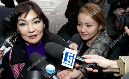 The Wife of Kazakh Oligarch and Political Dissident Mukhtar Ablyazov Alma Shalabayeva (l) and Her Daughter Madina (r) As They Arrive at Hotel to Attend a Press Conference in Rome Italy 27 December 2013 the Wife of Kazakh Oligarch and Political Dissident Mukhtar Ablyazov Returned to Italy on 27 December 2013 After Kazakhstan Lifted a Ban on Her Movements This Week Media Reports State Alma Shalabayeva and Her Then Six-year-old Daughter Were Deported on a Private Jet to Kazakhstan After They Were Seized in May 2013 in a Raid on a Villa in Rome by Italian Police Following Pressure From Kazak Officials Causing a Major International Scandal Italy Repealed Her Expulsion Order After It Emerged Shalabayeva Had the Legal Right to Reside in Italy Italy Rome