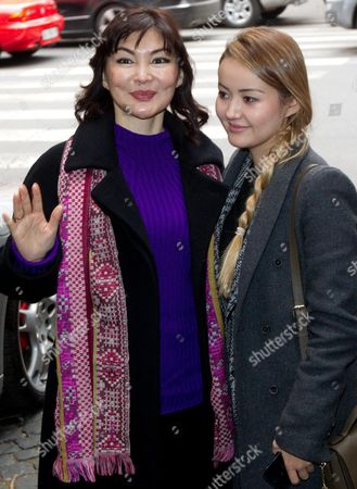 The Wife of Kazakh Oligarch and Political Dissident Mukhtar Ablyazov Alma Shalabayeva (l) and Her Daughter Madina (r) As They Arrive at Hotel to Attend a Press Conference in Rome 27 December 2013 the Wife of Kazakh Oligarch and Political Dissident Mukhtar Ablyazov Returned to Italy on 27 December 2013 After Kazakhstan Lifted a Ban on Her Movements This Week Media Reports State Alma Shalabayeva and Her Then Six-year-old Daughter Were Deported on a Private Jet to Kazakhstan After They Were Seized in May 2013 in a Raid on a Villa in Rome by Italian Police Following Pressure From Kazak Officials Causing a Major International Scandal Italy Repealed Her Expulsion Order After It Emerged Shalabayeva Had the Legal Right to Reside in Italy Italy Rome