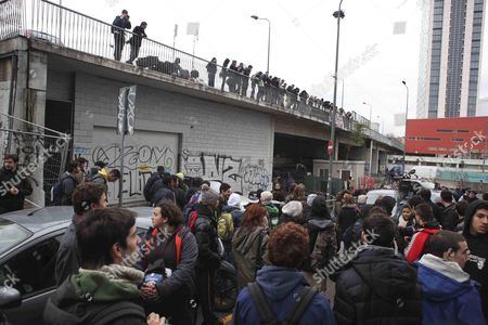 Students Demonstrate in Porta Garibaldi (garibaldi Gate) in Milan Italy 29 November 2012 Reports State That the Demonstrators Are Protesting Against the Minister of Education Francesco Profumo and Against the Policies of Prime Minister Monti's Goverment Italy Milan