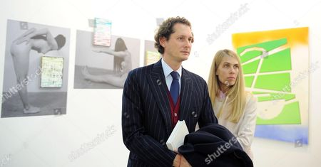 Fiat Chairman John Elkann with His Wife Lavinia During the Presentation of the 20th Edition of the International Contemporary Arts Fair 'Artissima' in Turin Italy 07 November 2013 the Event Runs From 08 to 10 November 2013 Italy Turin