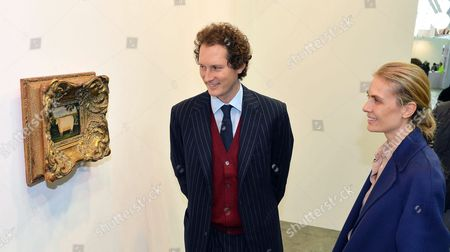 Fiat Chrysler Automobiles (fca) Chairman John Elkann (l) and His Wife Lavinia (r) Visit the 22nd Edition of 'Artissima' at the Oval Lingotto in Turin Italy 05 November 2015 the Art Fair Opens to the Pubic From 06 to 08 November Italy Turin