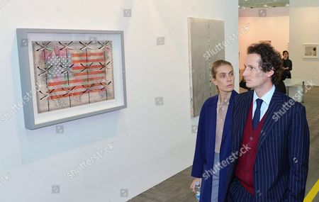 Fiat Chrysler Automobiles (fca) Chairman John Elkann (r) and His Wife Lavinia (l) Visit the 22nd Edition of 'Artissima' at the Oval Lingotto in Turin Italy 05 November 2015 the Art Fair Opens to the Pubic From 06 to 08 November Italy Turin