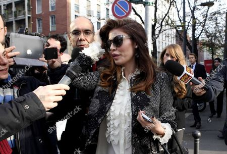 Italian Showgirl Alessandra Sorcinelli in Milan Italy 23 November 2012 After the Hearing Launched by the Milan States Attorney Office Looking Into Allegations That Italian Prime Minister Silvio Berlusconi Engaged a Minor Named Karima El Mahroug (aka Ruby) As a Prostitute Cipriani Claimed to Have Recently Received Ten Thousand Euro From Silvio Berlusconi Italy Milan