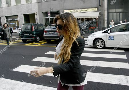 Showgirl Belen Rodriguez Arrives at a Court House in Milan 05 November 2012 Belen Rodriguez Has Been Cited As a Witness by the Defense of Italian Former Prime Minister Silvio Berlusconi Accused of Paying Moroccan Nightclub Dancer Karima El Mahroug Also Known by the Stage Name Ruby Rubacuori For Sexual Services Between February and May 2010 when She was Under the Age of 18 and For Abuse of Office Relating to Her Release From Detention Italy Milan