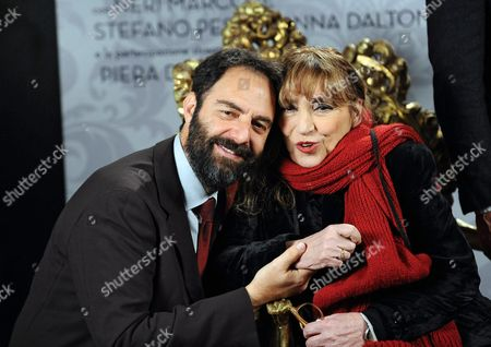 Italian Actors/cast Members Neri Marcore (l) and Piera Degli Esposti (r) Pose For Photographs During the Photocall For the Movie 'Leoni' in Rome Italy 29 January 2015 the Movie Will Be Released in Italian Theaters on 05 February Italy Rome