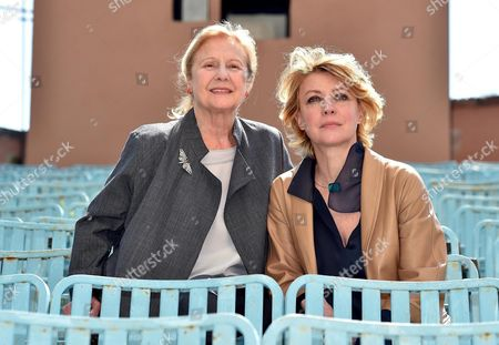 Italian Actresses/cast Members Giulia Lazzarini (l) and Margherita Buy Pose During the Photocall For 'Mia Madre' (my Mother) in Rome Italy 13 April 2015 Italy Rome