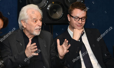 Chilean Filmmaker Alejandro Jodorowsky (l) and Danish Director Nicolas Winding Refn (r) Attend a Press Conference on the Release of the 'Refn' Home Video Film Box Set with the Movies 'Drive' and 'Only God Forgives' in Rome Italy 16 December 2013 Refn Dedicated His 2013 Movie 'Only God Forgives' to Jodorowsky Italy Rome