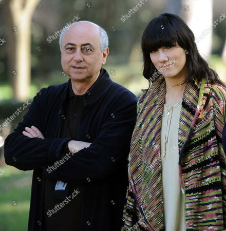 Italian Director Roberto Faenza (l) Poses with Italian Singer Elisa Author of the Soundtrack During the Photocall For the Movie in Rome Italy 23 February 2012 the Movie Will Be Released in Italian Theatres on 24 February Italy Roma