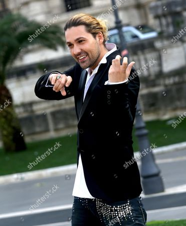 German Violinist/cast Member David Garrett Poses During the Photocall For the Movie 'The Devil's Violinist' Directed by Bernard Rose in Rome Italy 17 February 2014 the Movie Will Be Released on 27 February in Italian Theaters Italy Rome