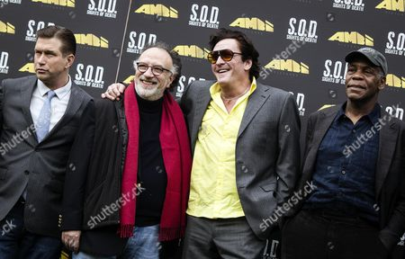 Stock Image of (l-r) Us Actor Stephen Baldwin Director Alessandro Capone Us Actors Michael Madsen and Danny Glover Pose During the Photocall For the Movie 'S O D Sights of Death' in Rome Italy 23 January 2014 Principal Photography of the Movie Will Start in Rome Italy Rome