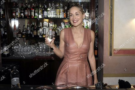 Us Actress Sharon Stone Celebrates During the Party For the Film 'Il Ragazzo D'oro' (lit: the Golden Boy) by Italian Film Director Pupi Avati at the Casina Valadier in Rome Italy 22 July 2013 Italy Rome