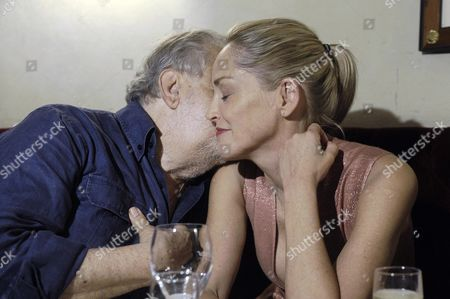 Us Actress Sharon Stone (r) Participates in the Party For the Film 'Il Ragazzo D'oro' (lit: the Golden Boy) by Italian Film Director Pupi Avati (l) at the Casina Valadier in Rome Italy 22 July 2013 Italy Rome