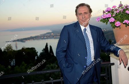 Italian Showman Michele Mirabella Poses For Photographs During a Party of the Taormina Film Festival at the Teatro Antico in Taormina Sicily Island Italy Late 19 June 2013 the 59th Edition of the Festival Runs From 15 to 22 June Italy Taormina