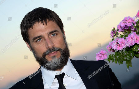 Italian Actor Daniele Pecci Poses For Photographs During a Party of the Taormina Film Festival at the Teatro Antico in Taormina Sicily Island Italy Late 19 June 2013 the 59th Edition of the Festival Runs From 15 to 22 June Italy Taormina