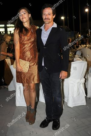 Italian Actor and Director Brando De Sica and His Girlfriend Irene Pose During a Party For the Preview of the 60th Taormina Film Festival in Messina Sicily Island Italy 14 June 2014 the Festival Runs From 14 to 21 June Italy Taormina