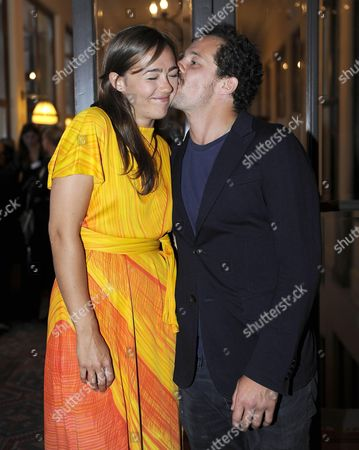Italian Actor and Director Brando De Sica and His Girlfriend Irene Pose For Photographers During a Party at the 60th Taormina Film in Taormina Sicily Island Italy 14 June 2014 the Festival Runs From 14 to 21 June Italy Taormina