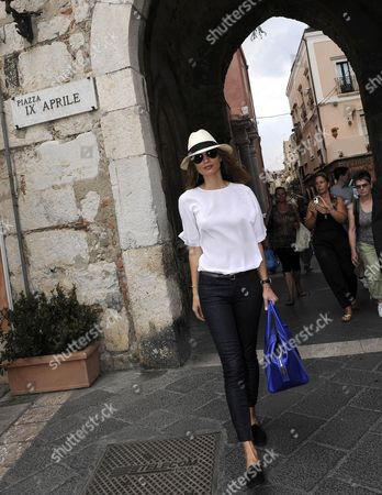 Italian Actress Margareth Made Walks in the City Center During the 60th Taormina Film Festival in Taormina Sicily Island Italy 16 June 2014 the Festival Runs From 14 to 21 June Italy Taormina (messina)