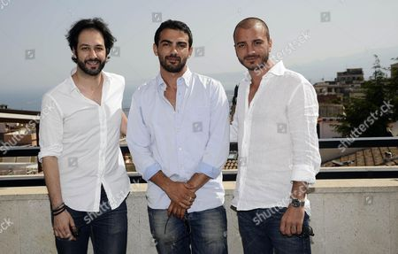 (l-r) Italian Actors Matteo Branciamore Primo Reggiani and Nicolas Vaporidis Pose During a Photocall Before the Beginning of a 'Campus' Workshop with Students at the 61st Taormina Film Festival in Taormina Sicily Island Italy 15 June 2015 the Festival Runs From 13 to 20 June Italy Taormina (messina)